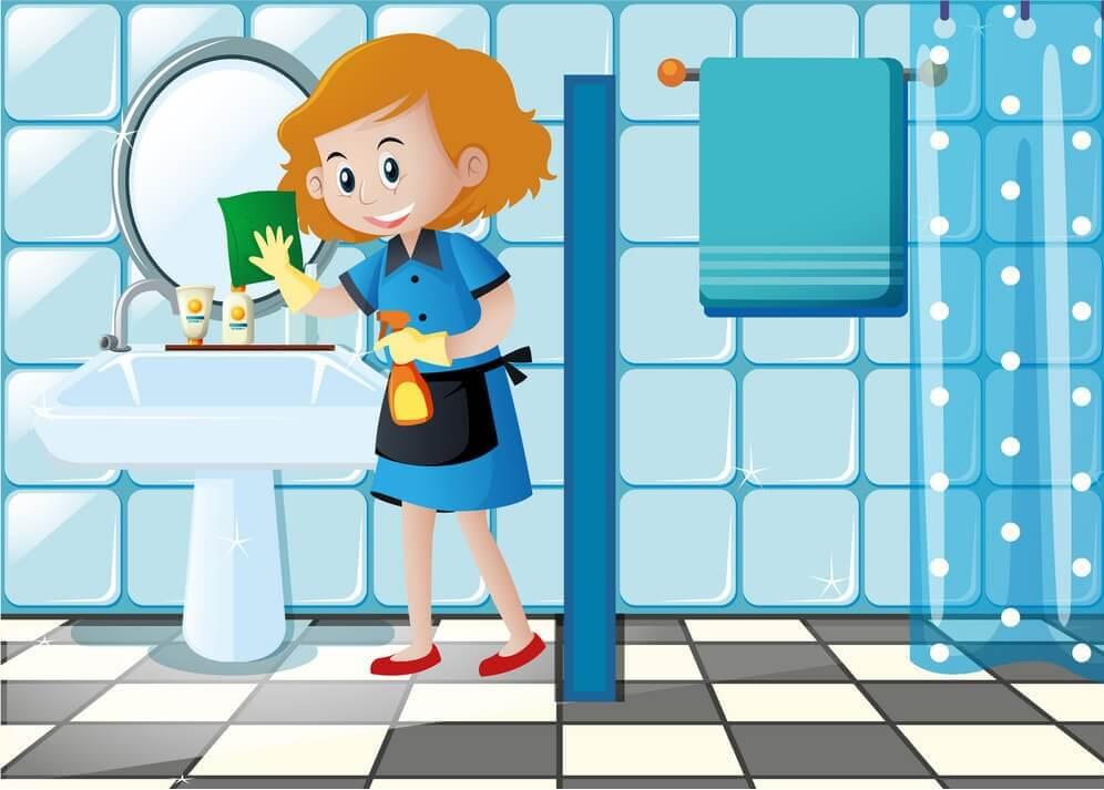 نظافت وان و دوش حمام